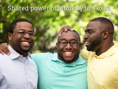 three siblings, brothers smiling, shared power of attorney in texas