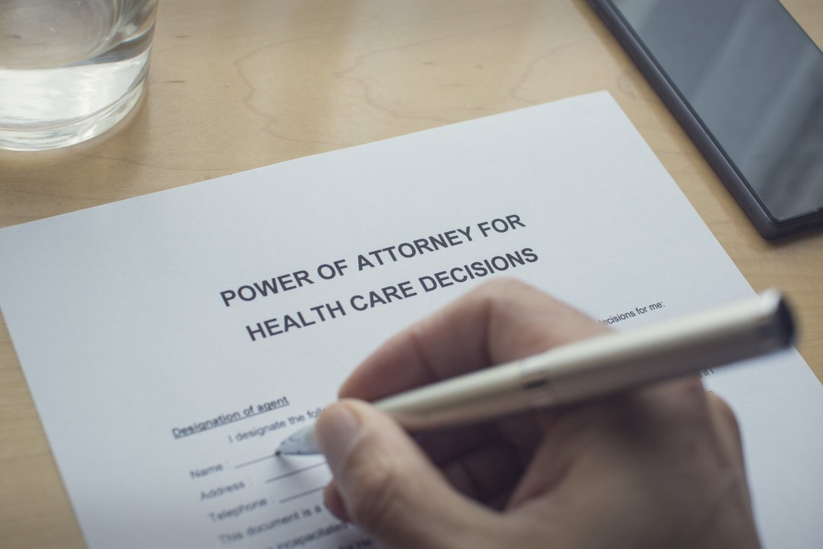 power of attorney document for medical directives